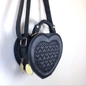 Betsy Johnson Luv Betsey Black Heart Crossbody